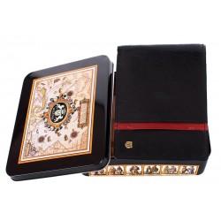 Skórzany portfel Meltoni L6103 czarny z czerwoną lamówką i wkładką