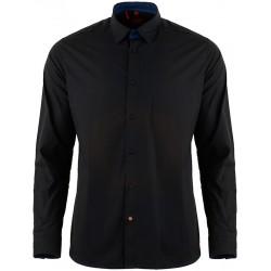 Casualowa koszula Roy KS223 H051 334 czarna długi rękaw r. M L XL 2XL