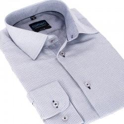 koszula comen slim wzór szary z długim rękawem