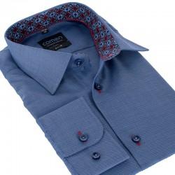 Granatowa koszula Comen slim długi rękaw r. 39 40 41 42 43 44 45 46 48