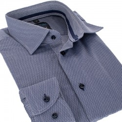 Koszula Comen długi rękaw slim szara ze wzorem r. 39 40 41 42 43 44 45