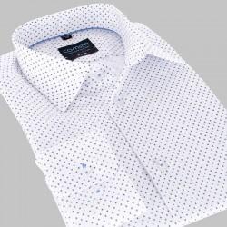 Koszula długi rękaw Comen slim biała ze wzorem 39 40 41 42 43 44 45 46