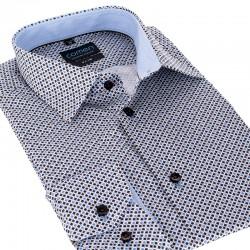 Koszula z drobnym wzorem Comen slim dł. rękaw 39 40 41 42 43 44 45 46