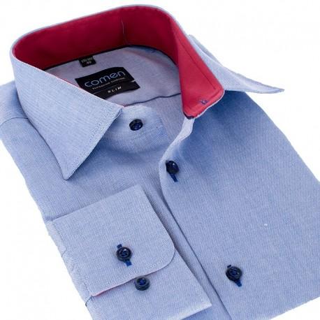 Koszula slim Comen niebieska dł. rękaw