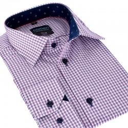 Taliowana koszula Comen w kratkę długi rękaw 39 40 41 42 43 44 45 46