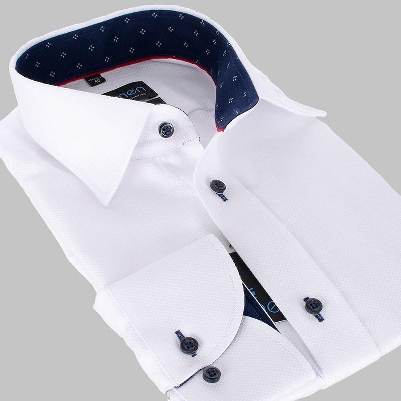 Biała koszula Comen slim z długim rękawem