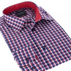 Koszula slim Comen dł. rękaw w kratkę 39 40 41 42 43 44 45 46 48 50
