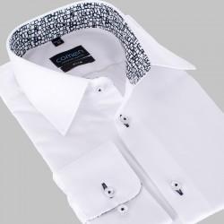 Śnieżnobiała koszula Comen z długim rękawem slim 39 40 41 42 43 44