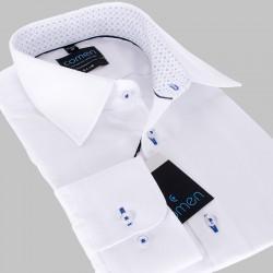Koszula męska Comen biała długi rękaw slim r. 39 40 41 42 43 44 45 46