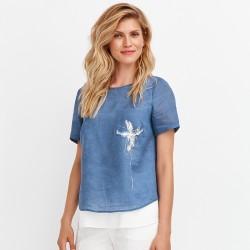 niebieska bluzka damska Feria FD18-3-15 rozmiar 38 40 42 44 46 48