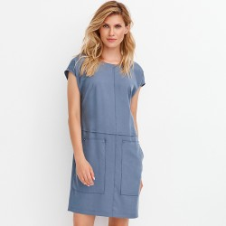 sukienka Feria FD218-2-15 szaro niebieska rozmiar 38 40 42 44 46 48