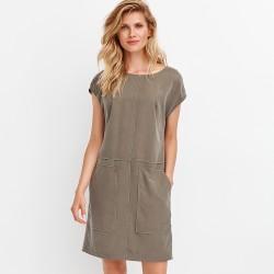 letnia sukienka Feria FD218-2-36 khaki rozmiar 38 40 42 44 46 48