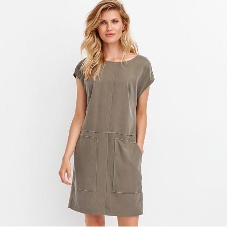 557531d8a9 letnia sukienka Feria FD218-2-36 khaki rozmiar 38 40 42 44 46 48
