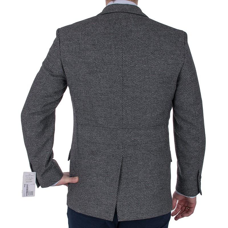 Szara marnarka Lord M-516 wełniana tweed