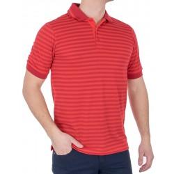 Pomarańczowa koszulka polo Belika 2379 10007 3674 w paski M L XL 2XL