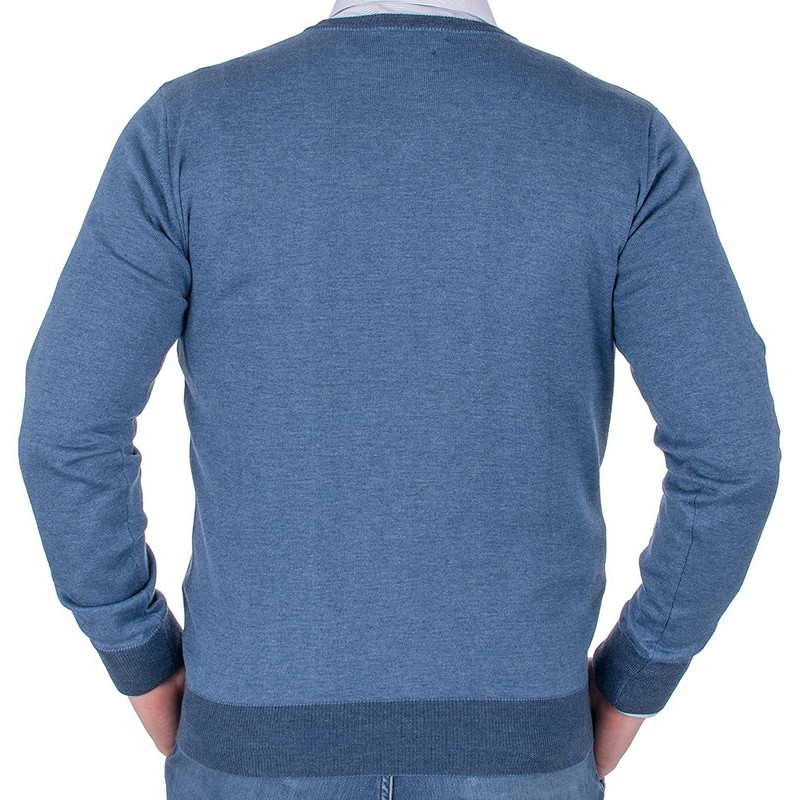 Niebieski sweter Tris Line 1770V v-neck
