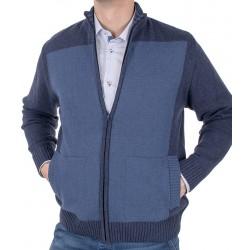 Rozpinany sweter Lidos SW88 wrangler, jeansowy roz. M, L, XL, 2XL, 3XL