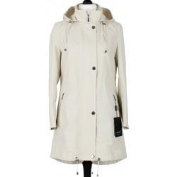 płaszcz bawełna Dziekański Irma jasny beż rozmiar 36 38 40 42 44 46 48