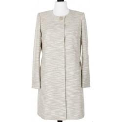 płaszcz przejściowy Dziekański Katarzyna beżowy rozmiar 40 42 44 46 48