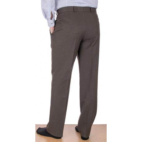 Proste spodnie Lord wełniane w kant j.brąz