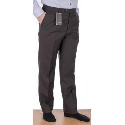 Brązowe proste spodnie wizytowe w kant Lord roz. 82-112 cm