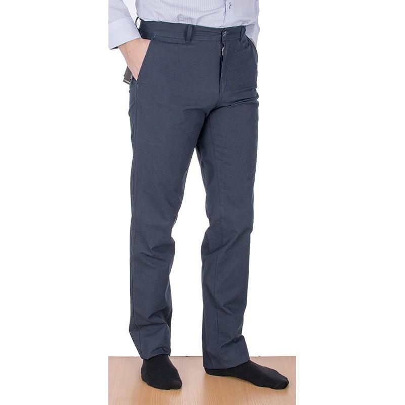 Granatowe spodnie Lord R-31 bawełniane