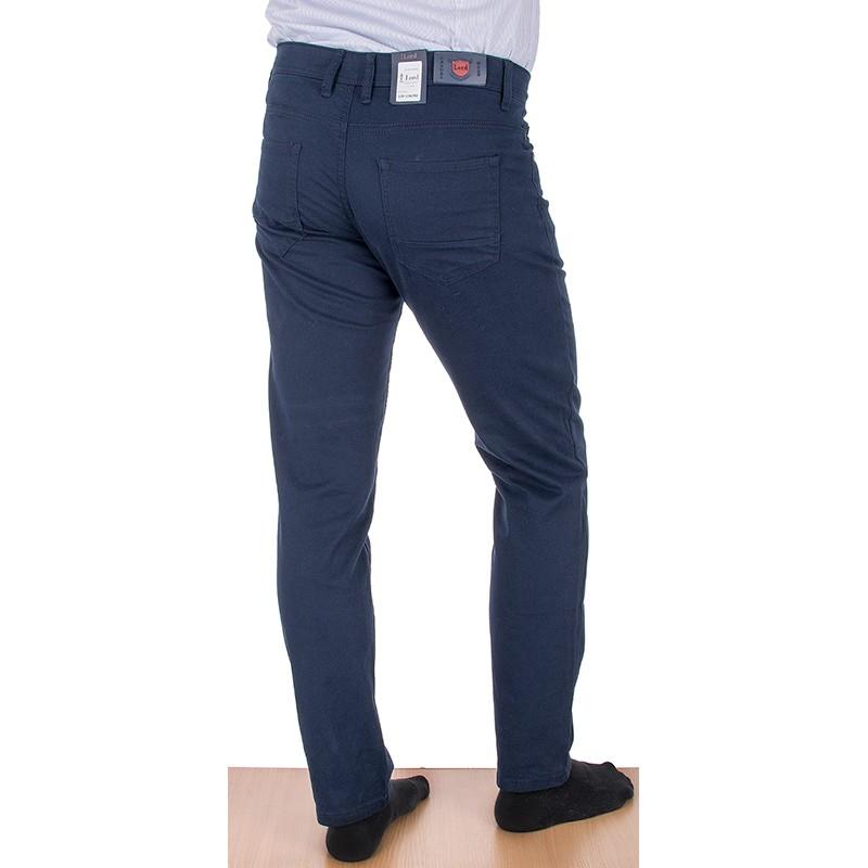 Granatowe spodnie Lord R-158 zwężane