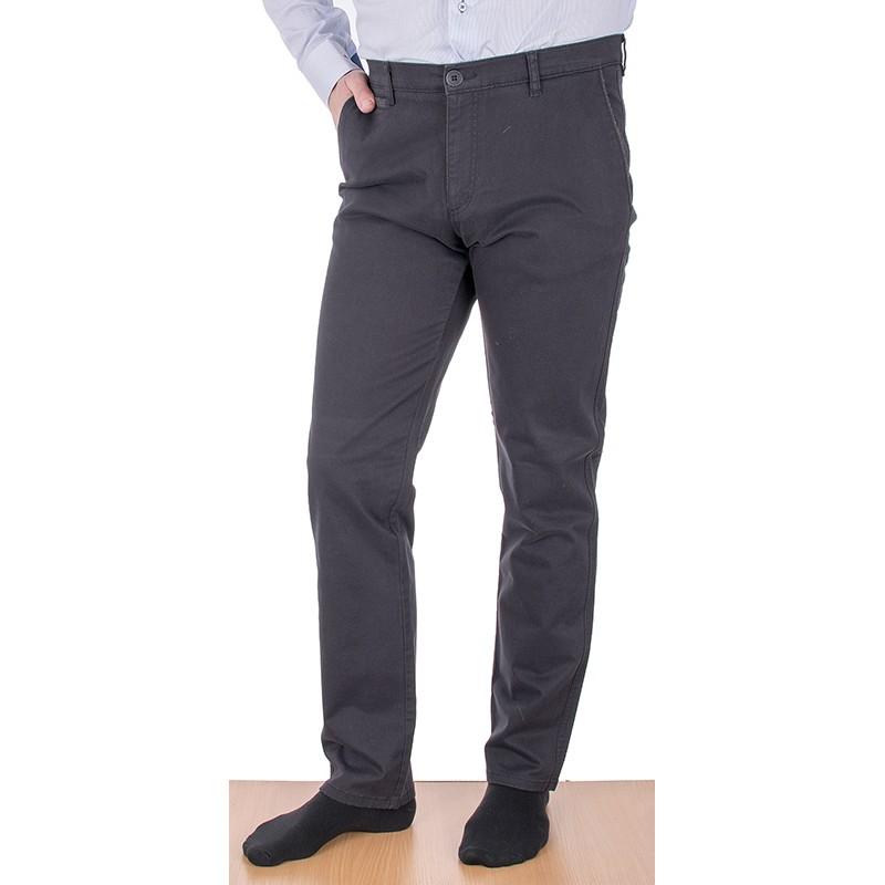 Grafitowe spodnie Lord R-81 chinos