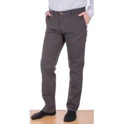Spodnie chinos Lord R-86 szary-brąz, bawełniane rozmiar 82-112 cm