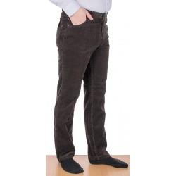 Spodnie sztruksowe Stanley 405 008 bawełniane brązowe roz. 88-122 cm
