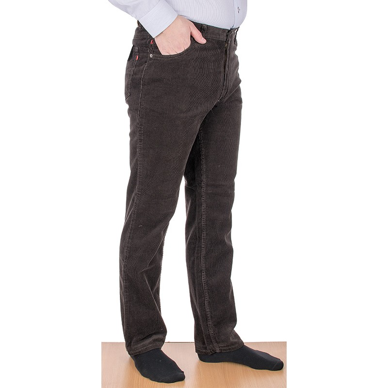 Brązowe spodnie sztruksowe Stanley Jeans 405 008