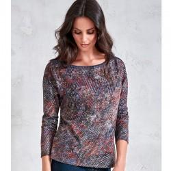 bluzka damska Sunwear V27-5-37 melanż multikolor rozmiar 42 46 48