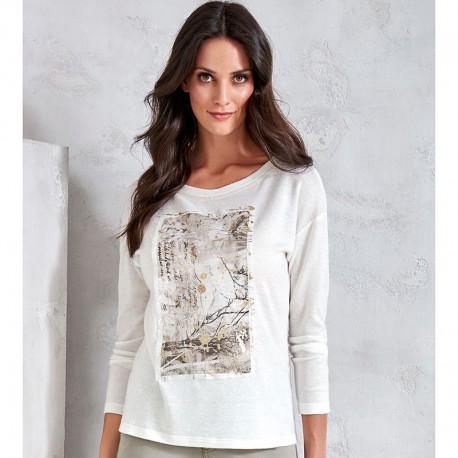 29a922433a510c bluzka z długim rękawem Sunwear V57-5-68 beżowa rozmiar 40 42 48