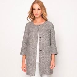 płaszcz damski Sunwear ZZ528-4-10 melanż popiel rozmiar 38 40