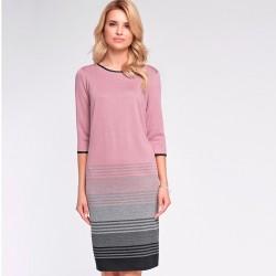 sukienka Sunwear OS216-4-11 pudrowy róż rozmiar 40 44 46
