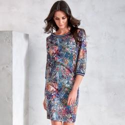 kolorowa sukienka Sunwear VS204-5-53 multikolor rozmiar 40 42