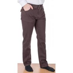 Bawełniane spodnie Stanley 400 016 brązowe 5 kieszeni roz. 88-122 cm