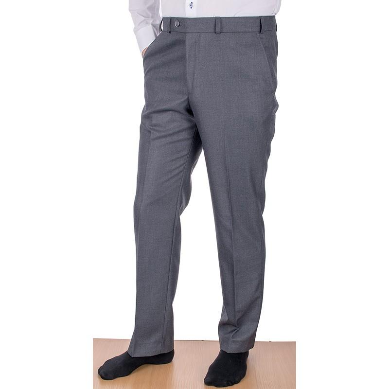 Szare wizytowe spodnie w kant Asta wełniane