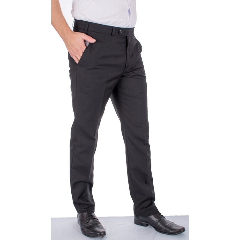 Czarne spodnie wizytowe w kant Asta