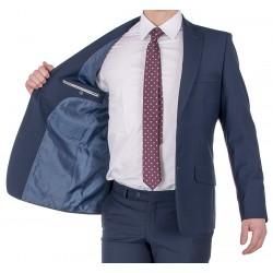 Granatowy garnitur Lord T-324