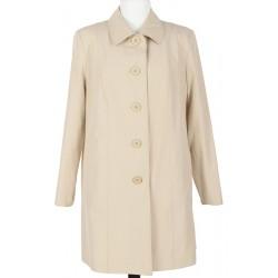płaszcz wiosenny Modena Styl Zita jasny beż rozmiar 44 46 48 50 52