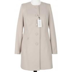 płaszcz damski Huna Sabina jasny beż rozmiar 42 44 46 48