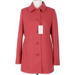 płaszcz wiosenny Huna Milena jasny koralowy rozmiar 42 44 46 48 50 52