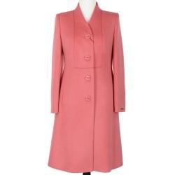 Koralowy płaszcz wiosenny Wiera Lux rozmiar 40 42 44 46 48 50 52