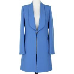 płaszcz damski Dziekański Augusta niebieski rozmiar 38 40 42 44 46 48