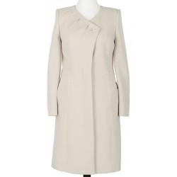 płaszcz Dziekański Mirela jasnobeżowy rozmiar 38 40 42 44 46