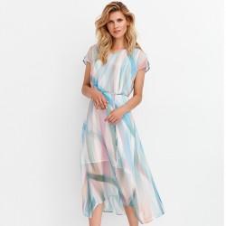 sukienka tiul Feria FD201-2-15 multikolor rozmiar 38 40 42 44 46