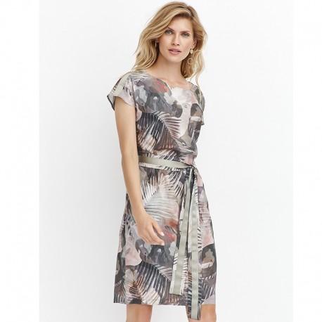 f28b4406 sukienka Feria FD206-2-36 moro zielona rozmiar 38 40 42 44 46 48