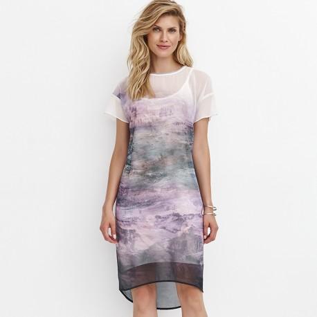 8652b79452 sukienka krótki rękaw Feria FD221-3-64 tiul rozmiar 38 40 42 44 46 48