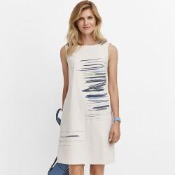 sukienka Feria FD229-1-23 jasny beż rozmiar 38 40 42 44 46 48
